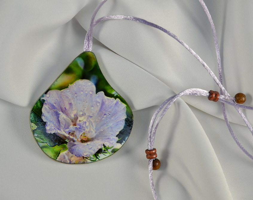 After the Rain, Watercolor Paper Pendant by Ross Barbera